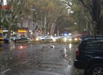 В Одессе деревопад: пострадавшую доставили в больницу