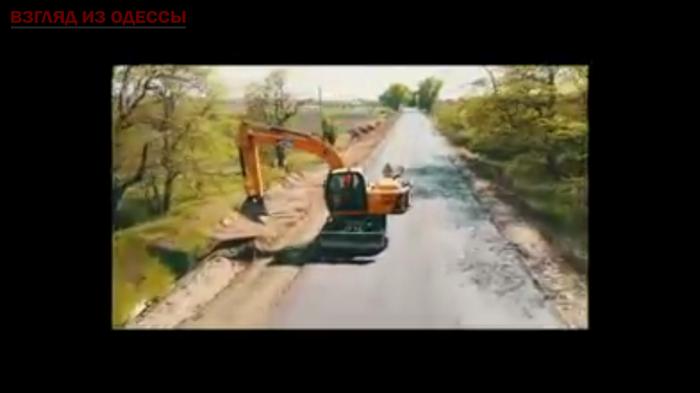 Раздельнянский район: в сети опубликовано видео ремонта дороги, которая стала причиной многих смертей